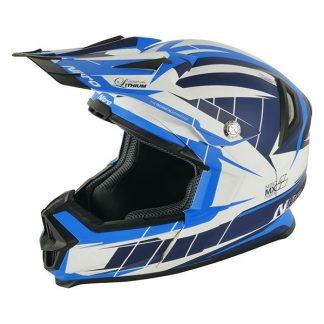 Nitro NRS MX Lithium Motocross Helmet Matt Blue