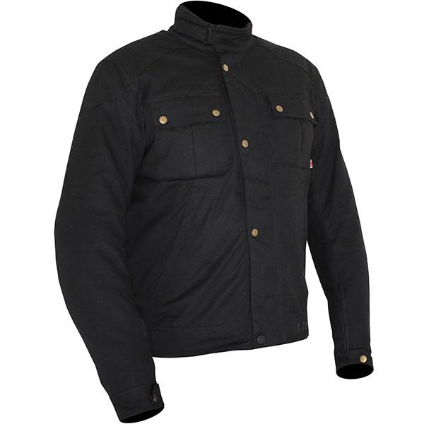 Weise Ashland Motorcycle Jacket Black Waterproof Textile Winter - PB