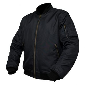 Armr Moto Aramid Bomber Motorcycle Jacket Black
