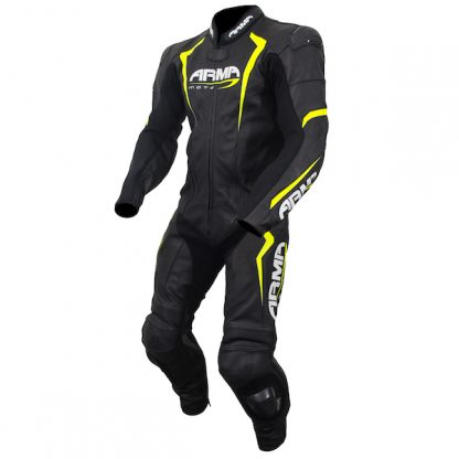 Armr Moto Harada S Leather Motorcycle Suit Yellow