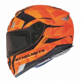 MT Atom SV Divergence Motorcycle Helmet Orange