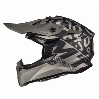 MT Falcon Karson Motocross Helmet Matt Black