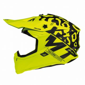 MT Falcon Karson Motocross Helmet Matt Yellow