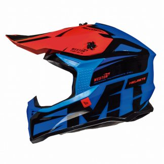MT Falcon Weston Motocross Helmet Blue