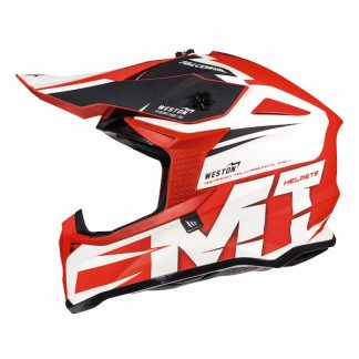 MT Falcon Weston Motocross Helmet Red