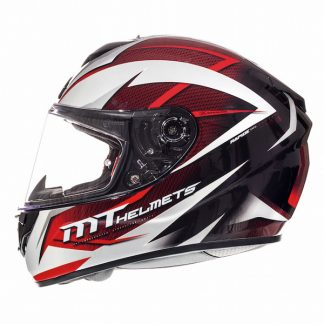 MT Rapide Crucial Motorcycle Helmet Red