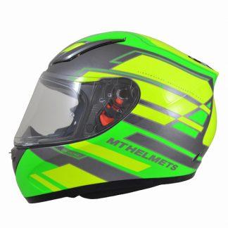 MT Revenge Zusa Motorcycle Helmet Gloss Green