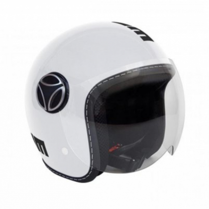 Momo Fighter Baby Motorcycle Helmet Gloss White