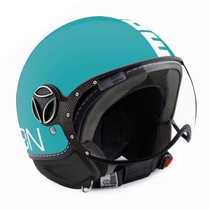 Momo Fighter Classic Motorcycle Helmet Aquamarine