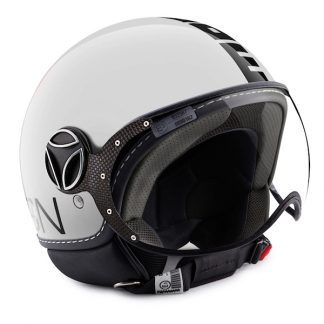 Momo Fighter Classic Motorcycle Helmet Gloss White