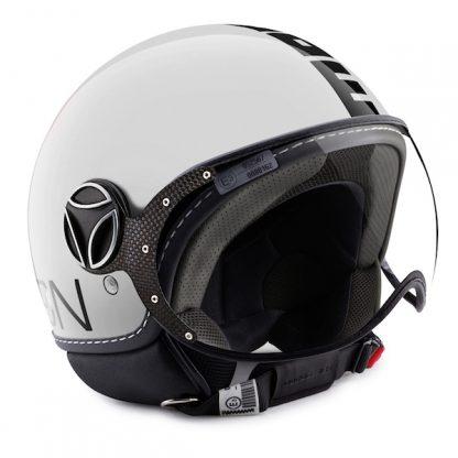 Momo Fighter Classic Motorcycle Helmet Gloss White