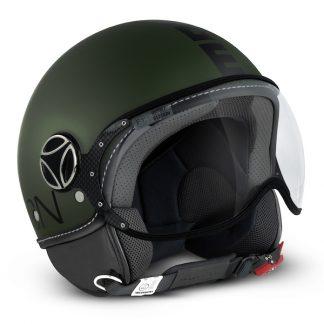 Momo Fighter Classic Motorcycle Helmet Matt Green