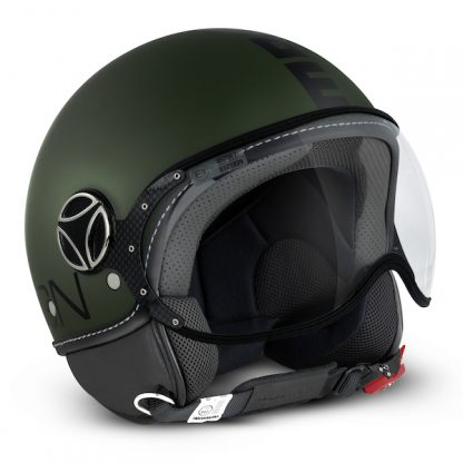 Momo Fighter Classic Motorcycle Helmet Matt Green