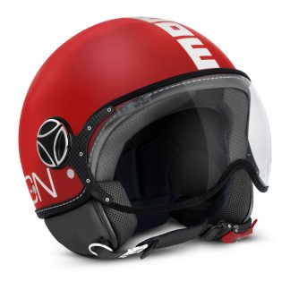 Momo Fighter Classic Motorcycle Helmet Matt Red