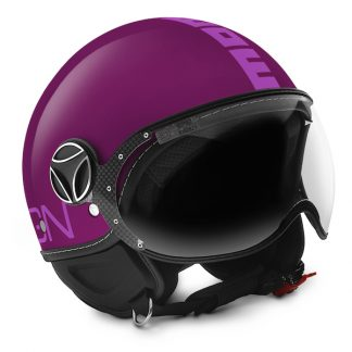 Momo Fighter Classic Motorcycle Helmet Matt Violet