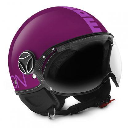 Momo Fighter Classic Motorcycle Helmet Matt Violet