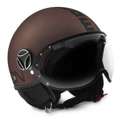 Momo Fighter Evo Motorcycle Helmet Matt Tobacco
