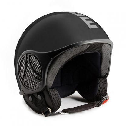Momo Minimomo S Motorcycle Helmet Matt Black