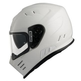 Simpson Venom Motorcycle Helmet Gloss White