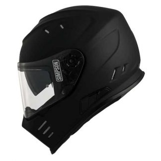 Simpson Venom Motorcycle Helmet Matt Black