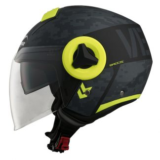 Vemar Breeze Camo Motorcycle Helmet Yellow