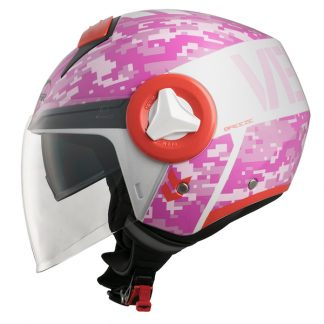 Vemar Breeze Camo Motorcycle Helmet Pink