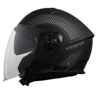 Vemar Feng Hive Motorcycle Helmet Grey