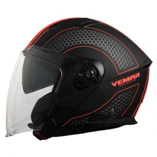 Vemar Feng Hive Motorcycle Helmet Orange
