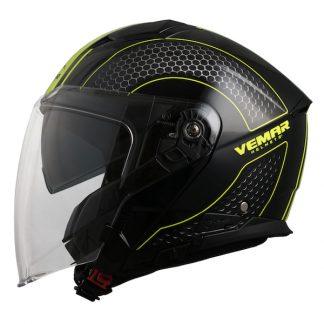 Vemar Feng Hive Motorcycle Helmet Yellow