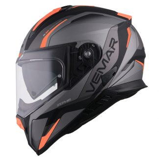 Vemar Zephir Lunar Motorcycle Helmet Matt Orange