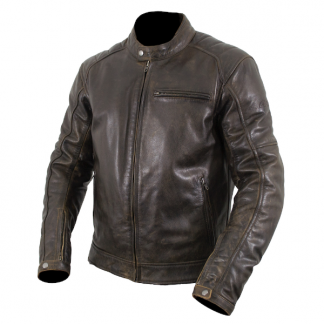 Armr Moto Hiro Classic Leather Motorcycle Jacket Brown