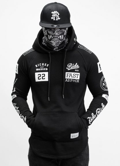 Ride Rich GP Scoop Motorcycle Hoodie