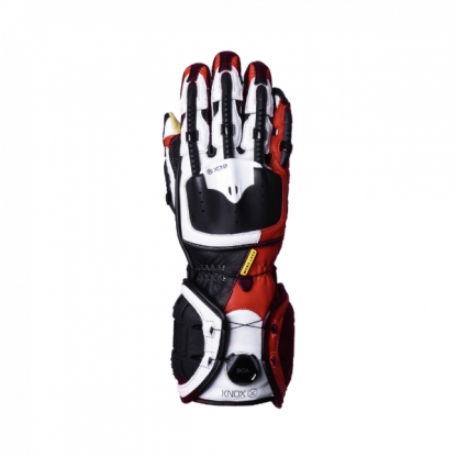Knox Handroid MK4 Motorcycle Gloves Red