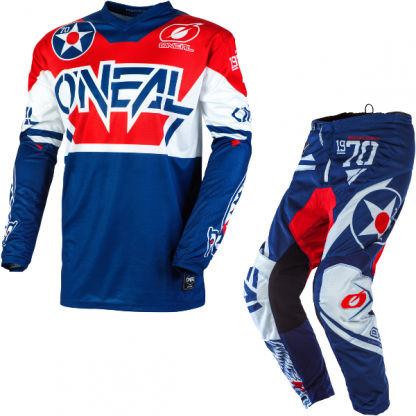 ONeal Element Warhawk 2020 Motocross Kit Blue