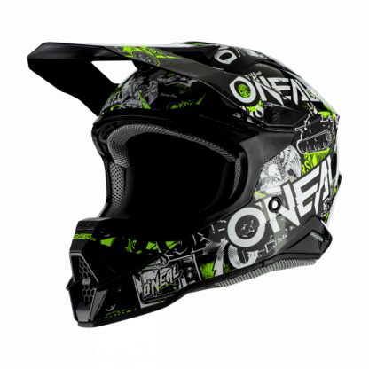 Oneal 3 Series Attack 2.0 Motocross Helmet Black