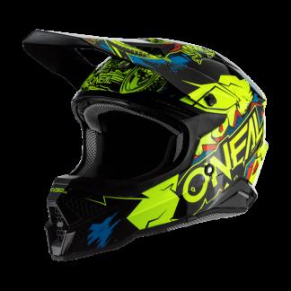 Oneal 3 Series Villian 2.0 Motocross Helmet Yellow
