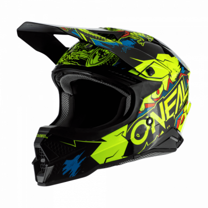 Oneal 3 Series Villian 2.0 Motocross Helmet Yellow