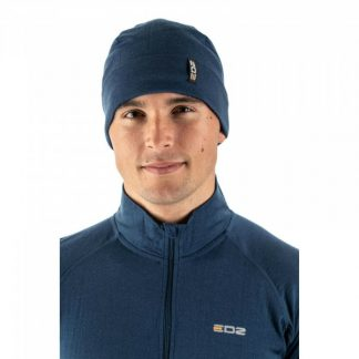 EDZ Merino Wool Motorcycle Beanie Denim Blue