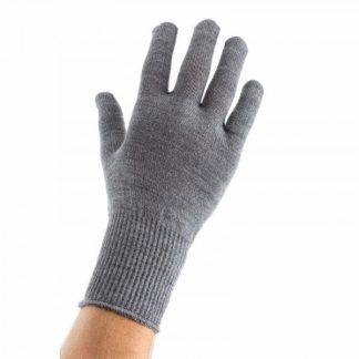 EDZ Merino Wool Thermal Liner Gloves Grey