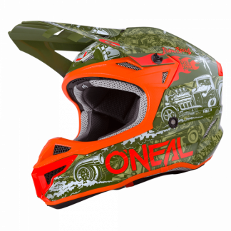 Oneal 5 Series HR Motocross Helmet Green