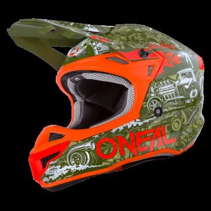 Oneal 5 Series HR Motocross Helmet Green