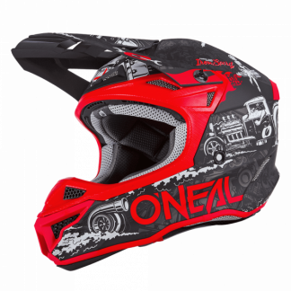 Oneal 5 Series HR Motocross Helmet Red
