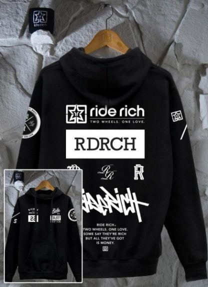 Ride Rich GP Motorcycle Hoodie