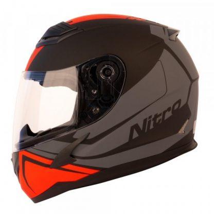 Nitro N2400 Rogue Motorcycle Helmet Matt Black