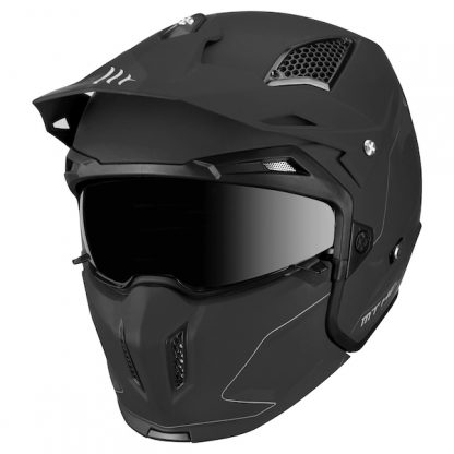 MT Streetfighter Motorcycle Helmet Matt Black