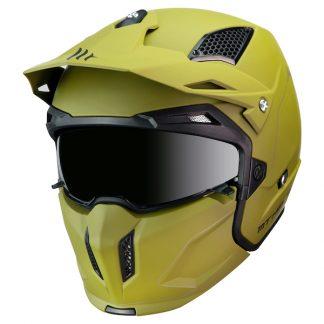 MT Streetfighter Motorcycle Helmet Matt Green