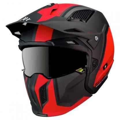 MT Streetfighter Twin Motorcycle Helmet Matt Red