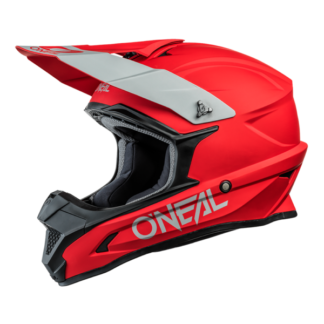 ONeal 1 Series Solid Motocross Helmet Red