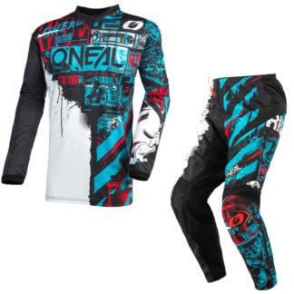 ONeal Element Ride 2021 Motocross Kit Blue