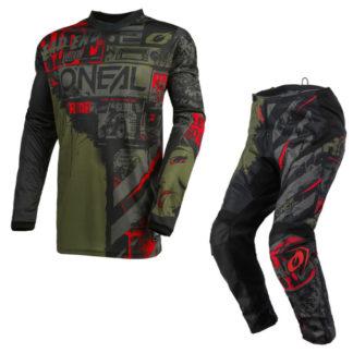 ONeal Element Ride 2021 Motocross Kit Green